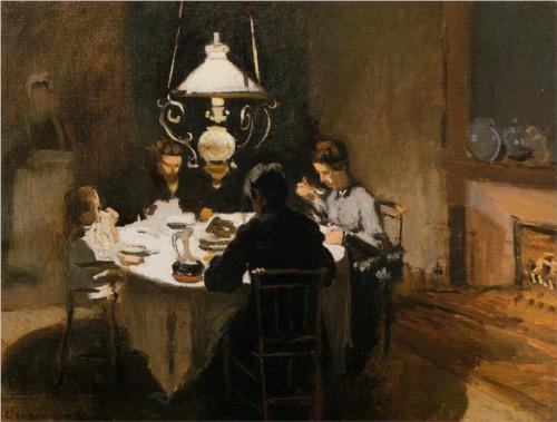 Family-Claude-Monet-The-Dinner-1869